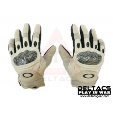 Deltacs Carbon Knuckle Full Finger Combat Gloves - Tan(M-XL)